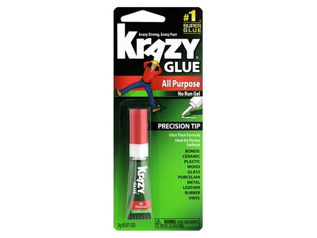All Purpose Krazy Glue 2 gm. No Run Gel