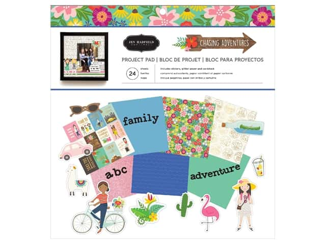 Pebbles Collection Jen Hadfield Chasing Adventures Project Pad 12 in. x 12 in.