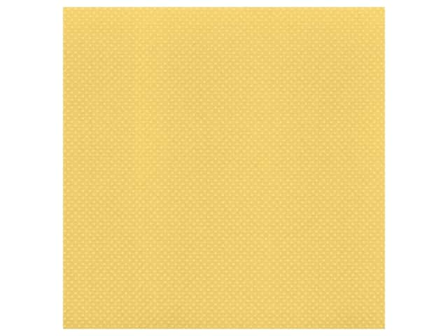 Bazzill Cardstock 12 x 12 in. Dotted Swiss Cornmeal