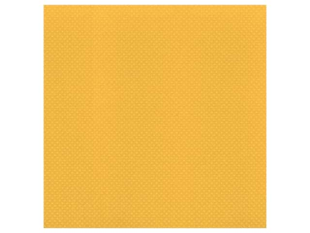 Bazzill Cardstock 12 x 12 in. Dotted Swiss Honey