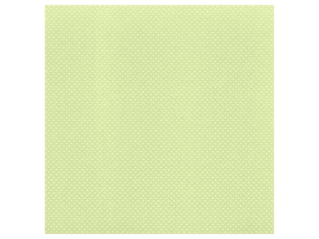 Bazzill Cardstock 12 x 12 in. Dotted Swiss Celtic Green