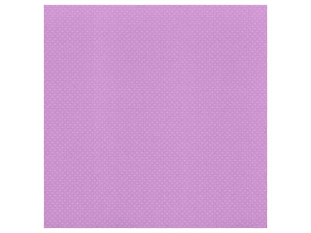 Bazzill Cardstock 12 x 12 in. Dotted Swiss Berry Pretty
