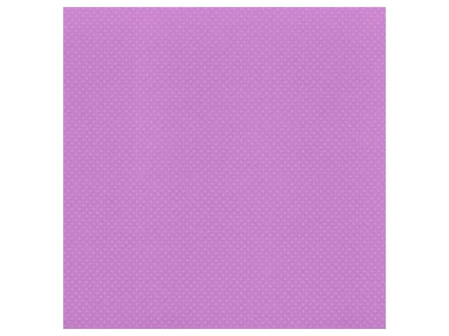 Bazzill Cardstock 12 x 12 in. Dotted Swiss Grape Jelly