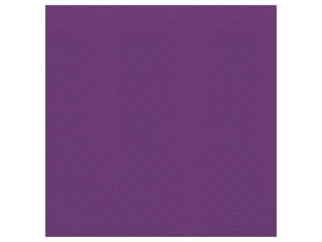 Bazzill Cardstock 12 x 12 in. Dotted Swiss Plum Pudding