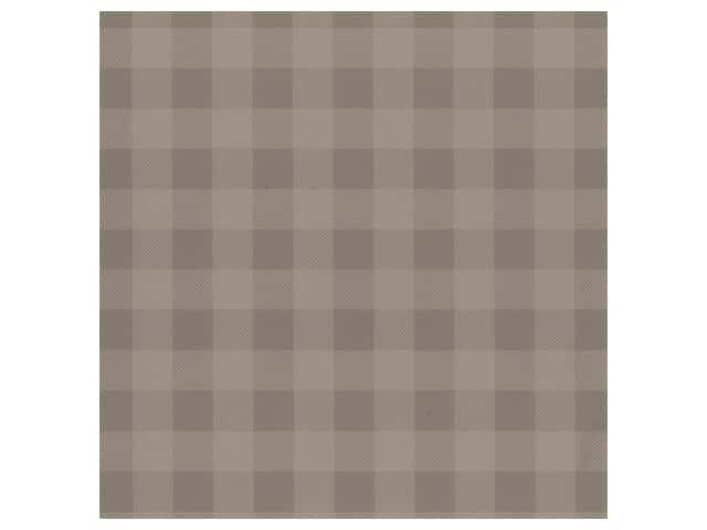 Bazzill Cardstock 12 x 12 in. Plaid Sugar Wafer