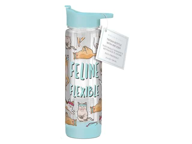 Molly & Rex Hydration Bottle Feline Flexible 23.6 oz