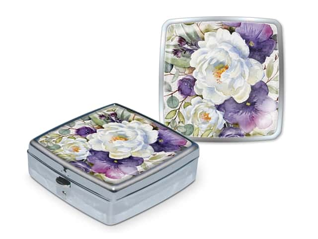 Punch Studio Pill Box Purple Bouquet
