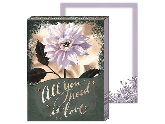 Punch Studio Note Pad Pocket White Dahlia