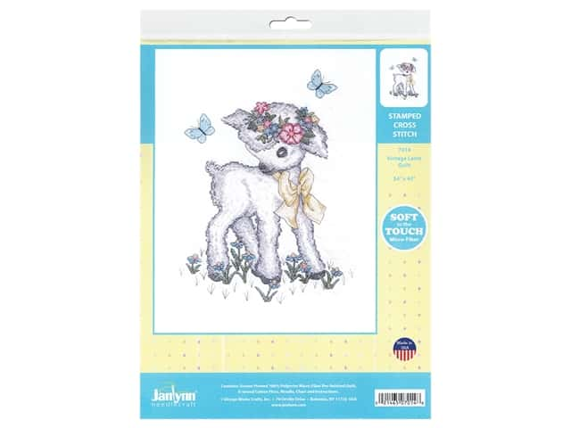 Janlynn Cross Stitch Kit 34 in. x 43 in. Vintage Lamb Quilt
