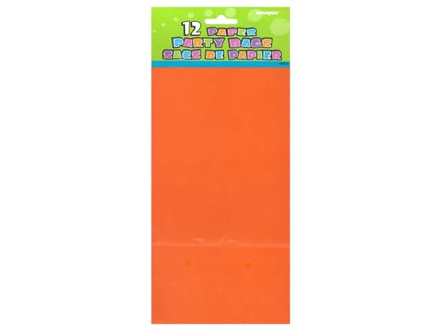 Unique Party Bags 12 pc. Orange