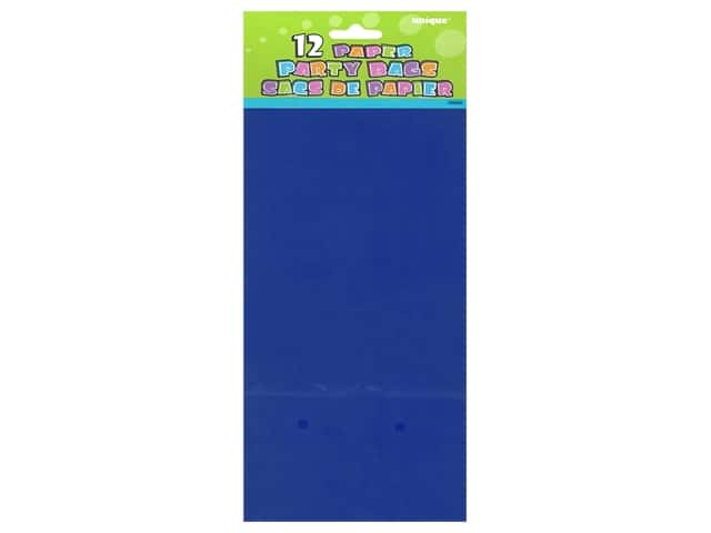 Unique Party Bags 12 pc. Royal Blue
