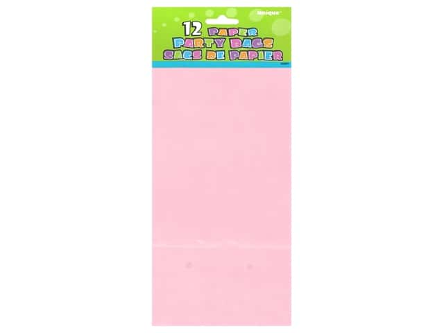 Unique Party Bags 12 pc. Lovely Pink