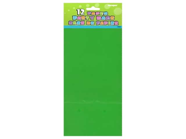 Unique Party Bags 12 pc. Green