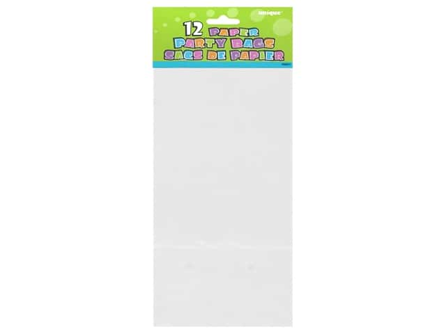 Unique Party Bags 12 pc. White