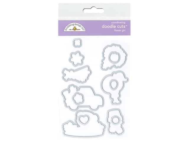 Doodlebug Doodle Cuts Wafer Dies Spring Flower Girl