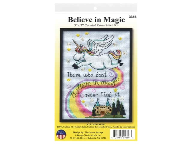 Design Works Cross Stitch Kit 5 in. x 7 in. Counted Magic