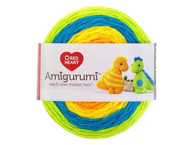Red Heart Amigurumi Yarn 239 yd. Dinosaur