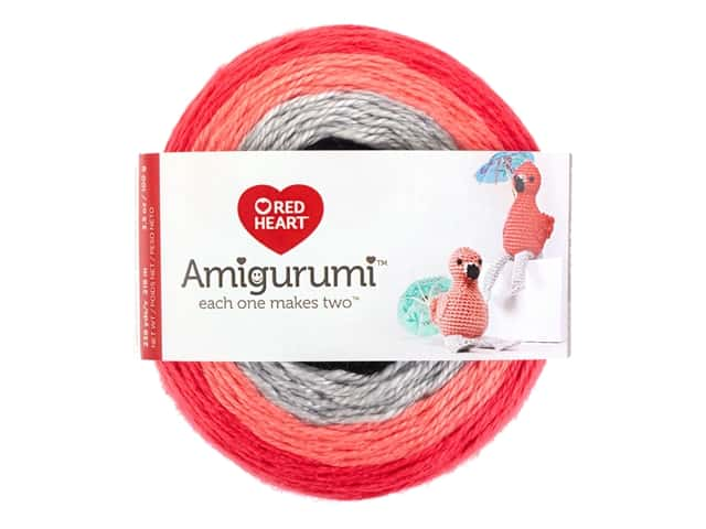 Red Heart Amigurumi Yarn 239 yd. Flamingo