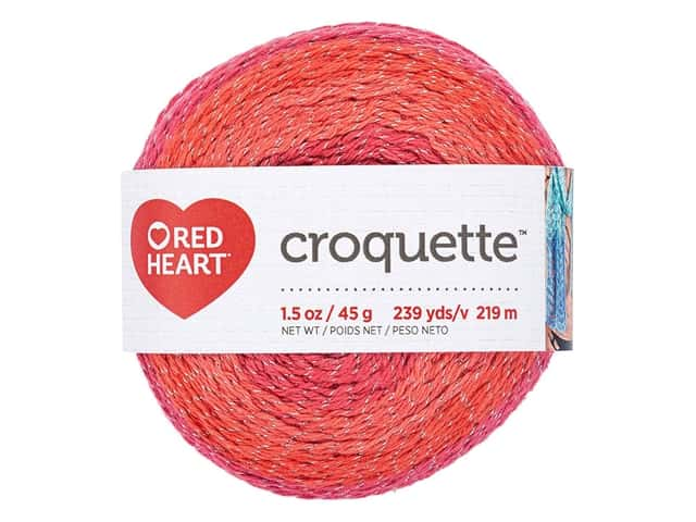 Red Heart Croquette Yarn 239 yd. Red Hot