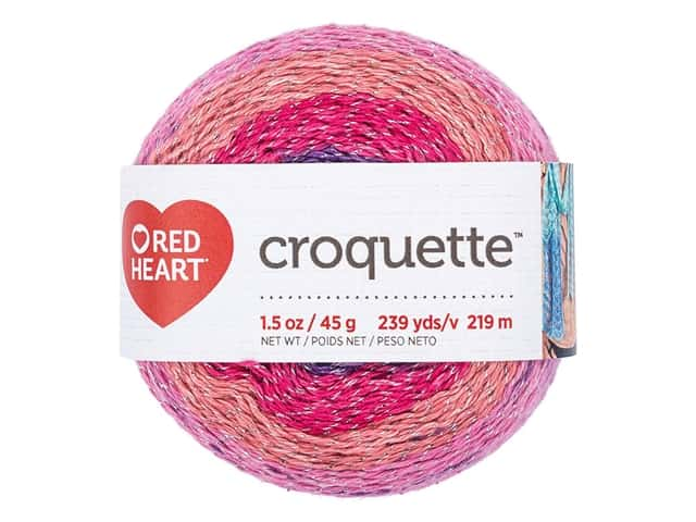 Red Heart Croquette Yarn 239 yd. Berry Bliss