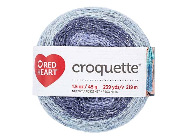 Red Heart Croquette Yarn 239 yd. Ethereal