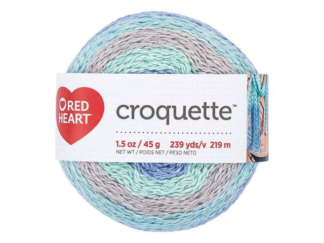 Red Heart Croquette Yarn 239 yd. Calming
