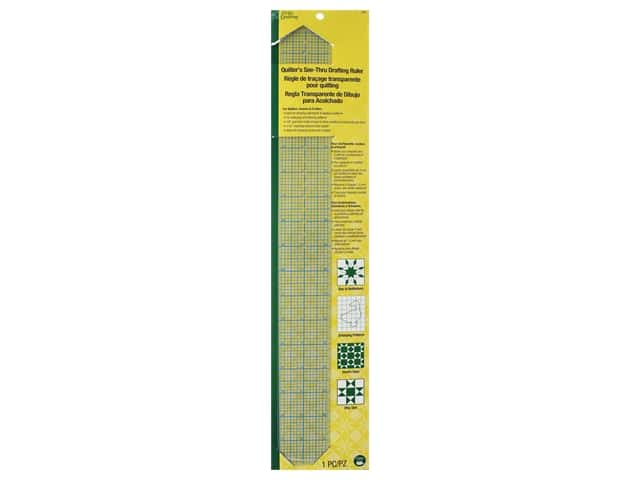 Dritz Quilter's See-Thru Drafting Ruler - 2 x 18 in.