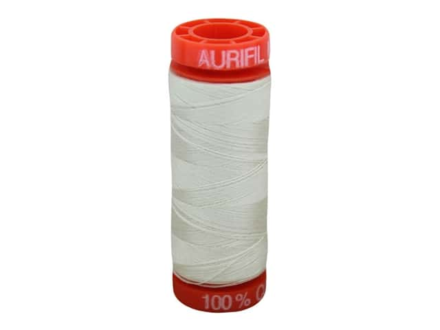 Aurifil Thread Cotton Mako 50 wt 200 M Silver White