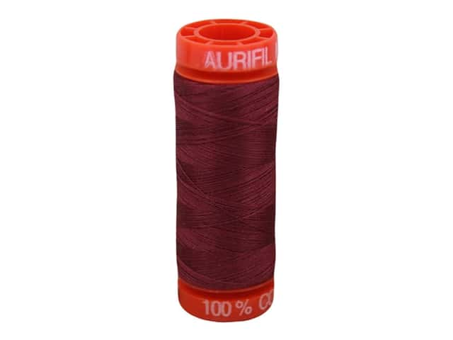 Aurifil Thread Cotton Mako 50 wt 200 M Dark Carmine Red