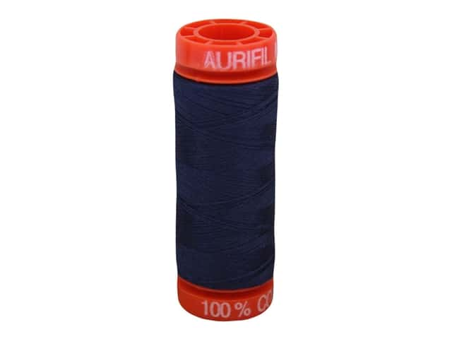 Aurifil Thread Cotton Mako 50 wt 200 M Very Dark Navy