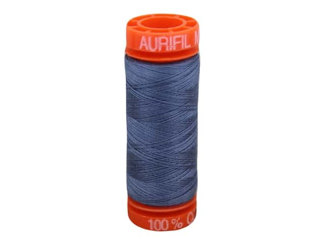 Aurifil Thread Cotton Mako 50 wt 200 M Dark Grey Blue