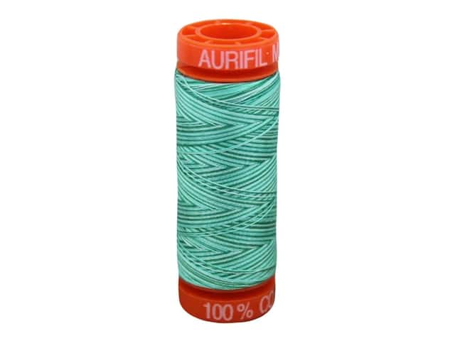 Aurifil Thread Cotton Mako 50 wt 200 M Variegated Creme de Menthe