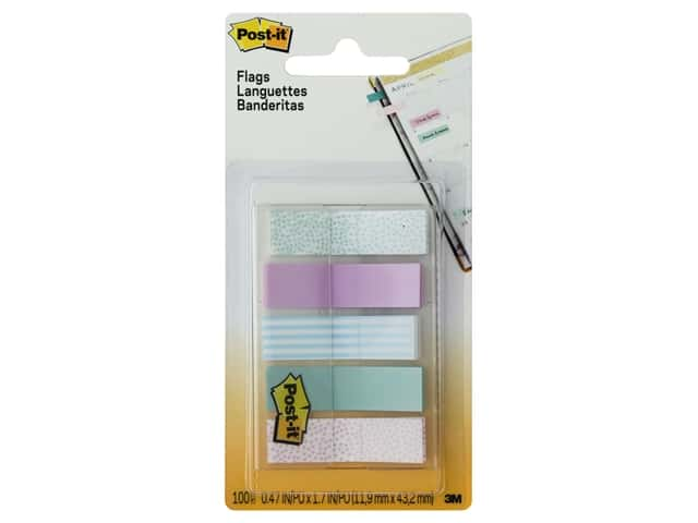 Post-It Note Flags Printed .5 in. Assorted Gradient