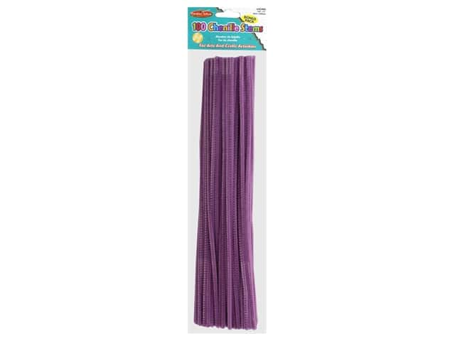 Creative Arts Chenille Stem 12 in. 4 mm Purple 100 pc