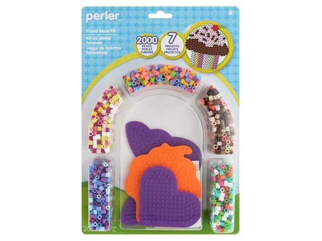 Perler Fused Bead Kit Cupcake & Butterfly 2000 pc