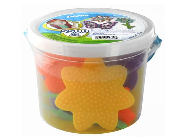 Perler Fused Bead Kit Bucket 5500 pc Sunny Days