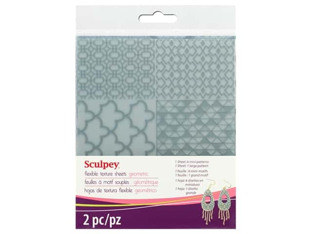 Sculpey Clay Tool Texture Sheet Geometric 2 pc