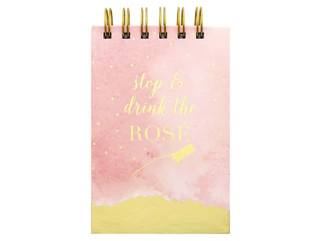 Lady Jayne Spiral Note Pad with Pen Rose Bottle