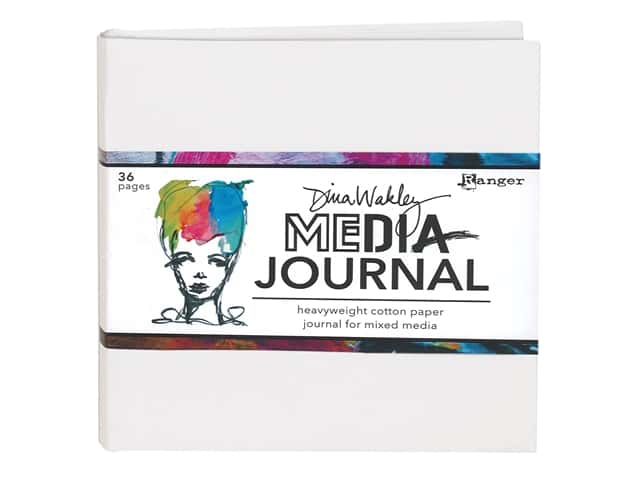 Ranger Dina Wakley Media Journal 6 in. x 6 in. White