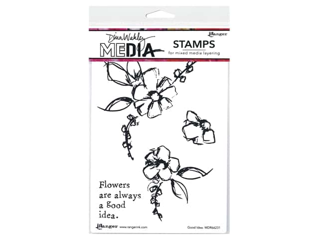 Ranger Dina Wakley Media Stamp Good Idea