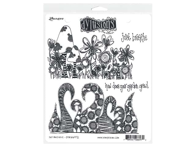 Ranger Dylusions Cling Stamp Set Just Breathe