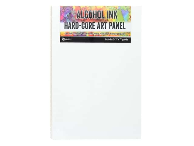 Ranger Tim Holtz Alcohol Ink Hard Core Art Panels 5 in. x 7 in. 3 pc