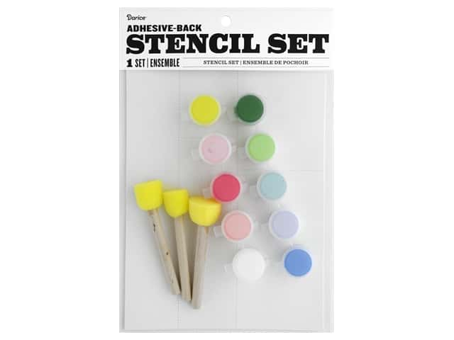 Darice Kit Fabric Paint Stencil Floral