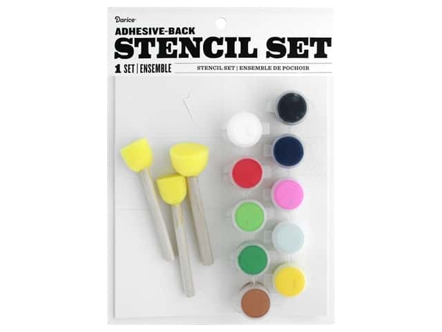 Darice Kit Fabric Paint Stencil Holiday