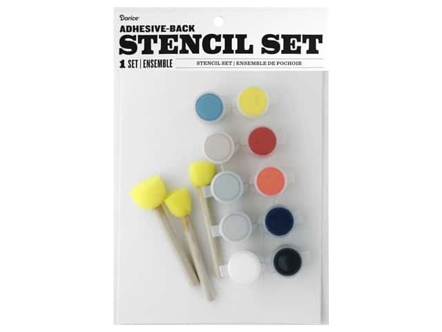 Darice Kit Fabric Paint Stencil Farmhouse