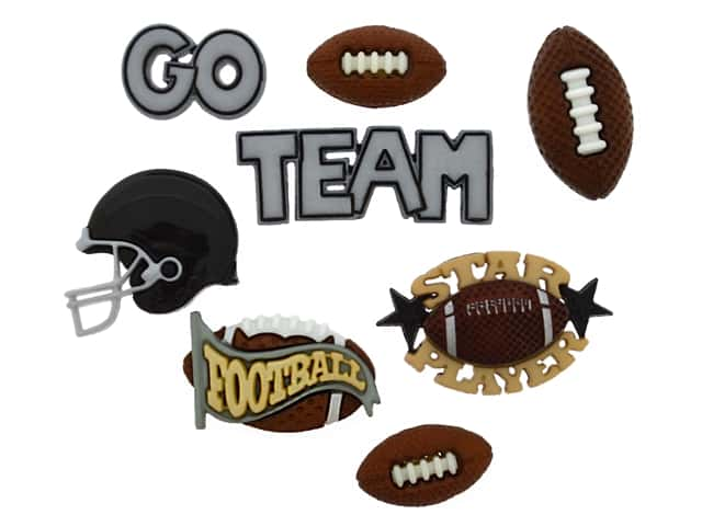 Jesse James Dress It Up Embellishments Sports Collection Football