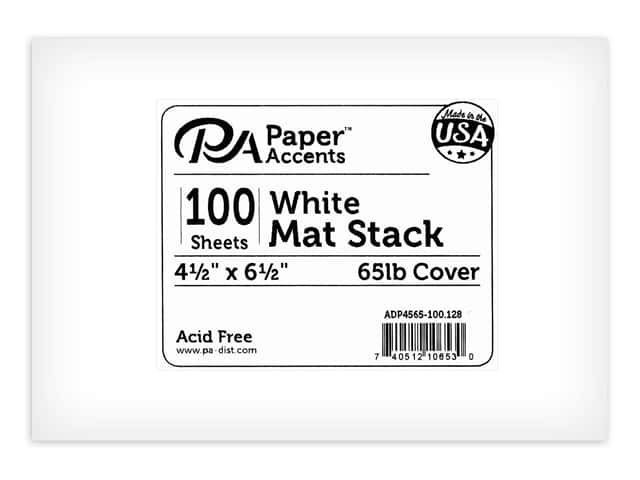Paper Accents Cardstock Pack Mat Stack 4.5 in. x 6.5 in. Blank 100 pc 65 lb White