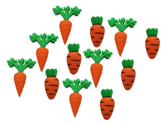 Jesse James Dress It Up Embellishments Easter Collection Carrot Crop