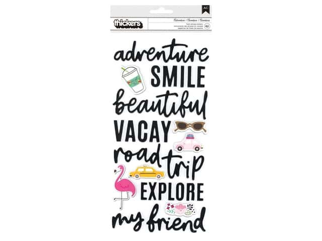 Pebbles Chasing Adventures Jen Hadfield Thicker Sticker Phrase & Icons