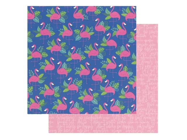 Pebbles Collection Hen Hadfield Chasing Adventures Paper 12 in. x 12 in. Paradise
